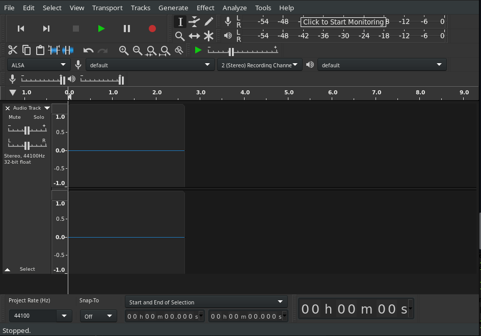 Screenshot of Control Toolbar with the buttons in the following order:<br /><br />Rewind, Fast Forward, Stop, Play, Pause, Record