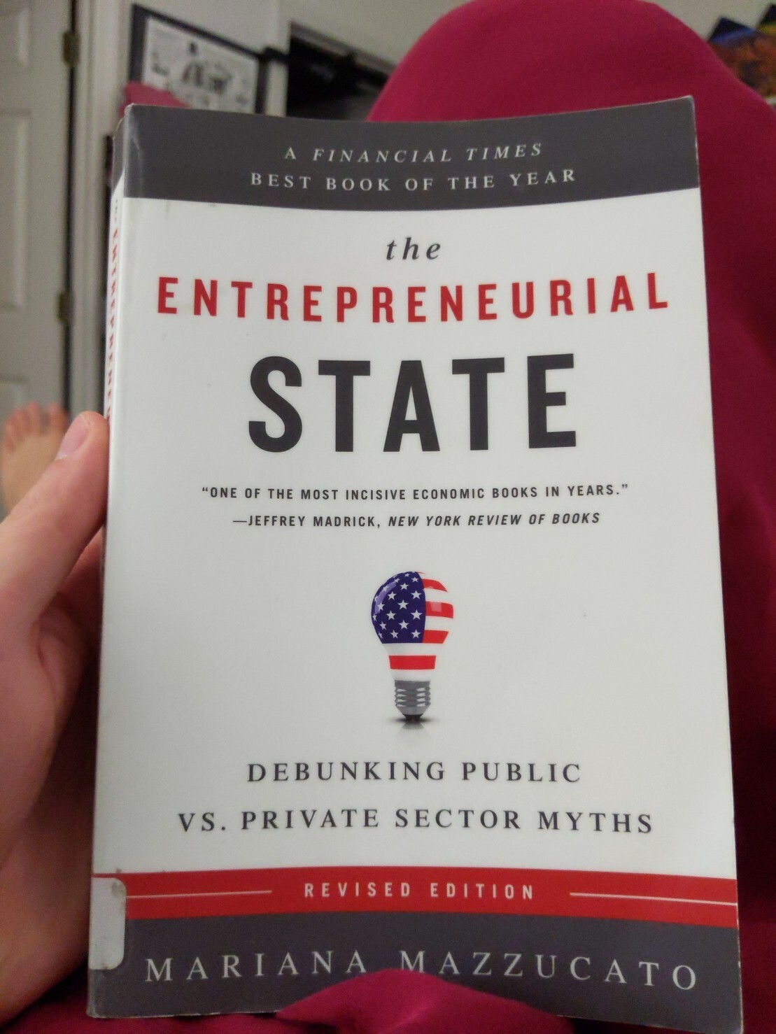 """Cover of """"the entrepreneurial state"""""""
