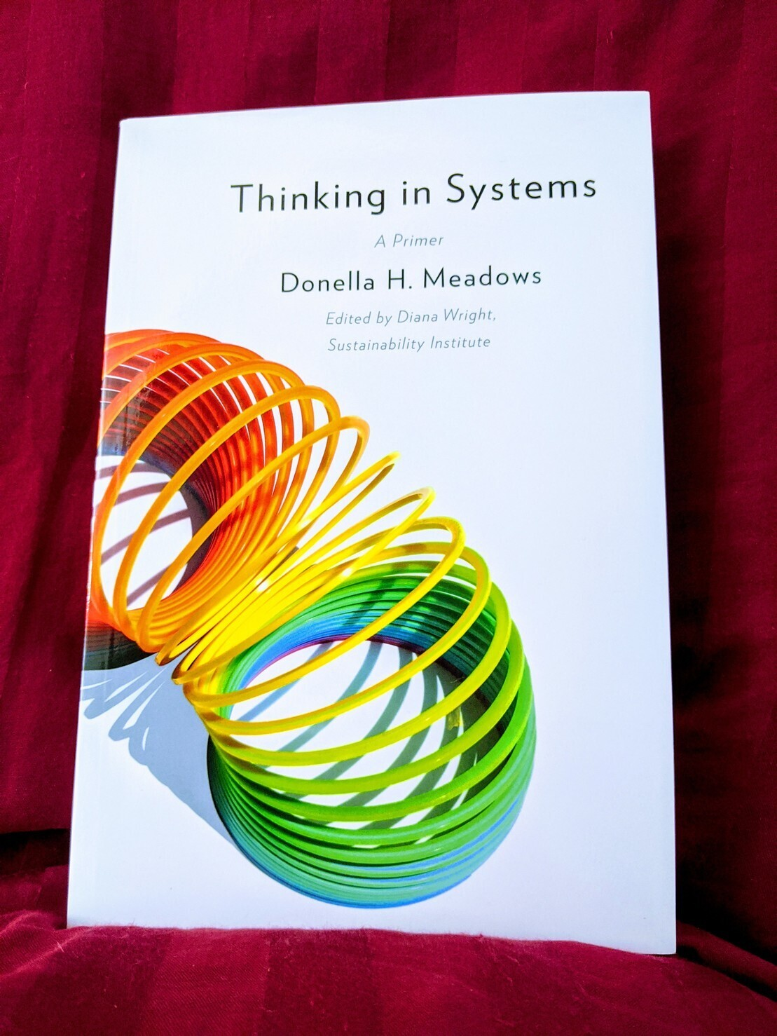 """The cover  the book, """"thinking in systems""""."""